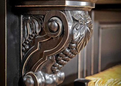 Dark Brown Carved Corbel for Marble Island Countertop