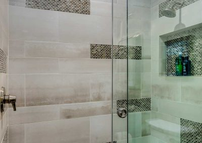 Beaverton Contemporary Walk-in Shower Remodel