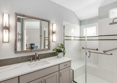 Master Bath Remodel with Contemporary Design and New Fixtures