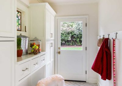Portland Mudroom Addition with Coat Rack and Dog Toys