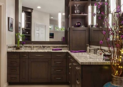 Master Bath Remodel Project in West Linn with Long Counters and Vanity Sinks