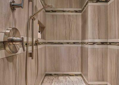Master Bath Walk-in Shower Remodel with Tile Bench