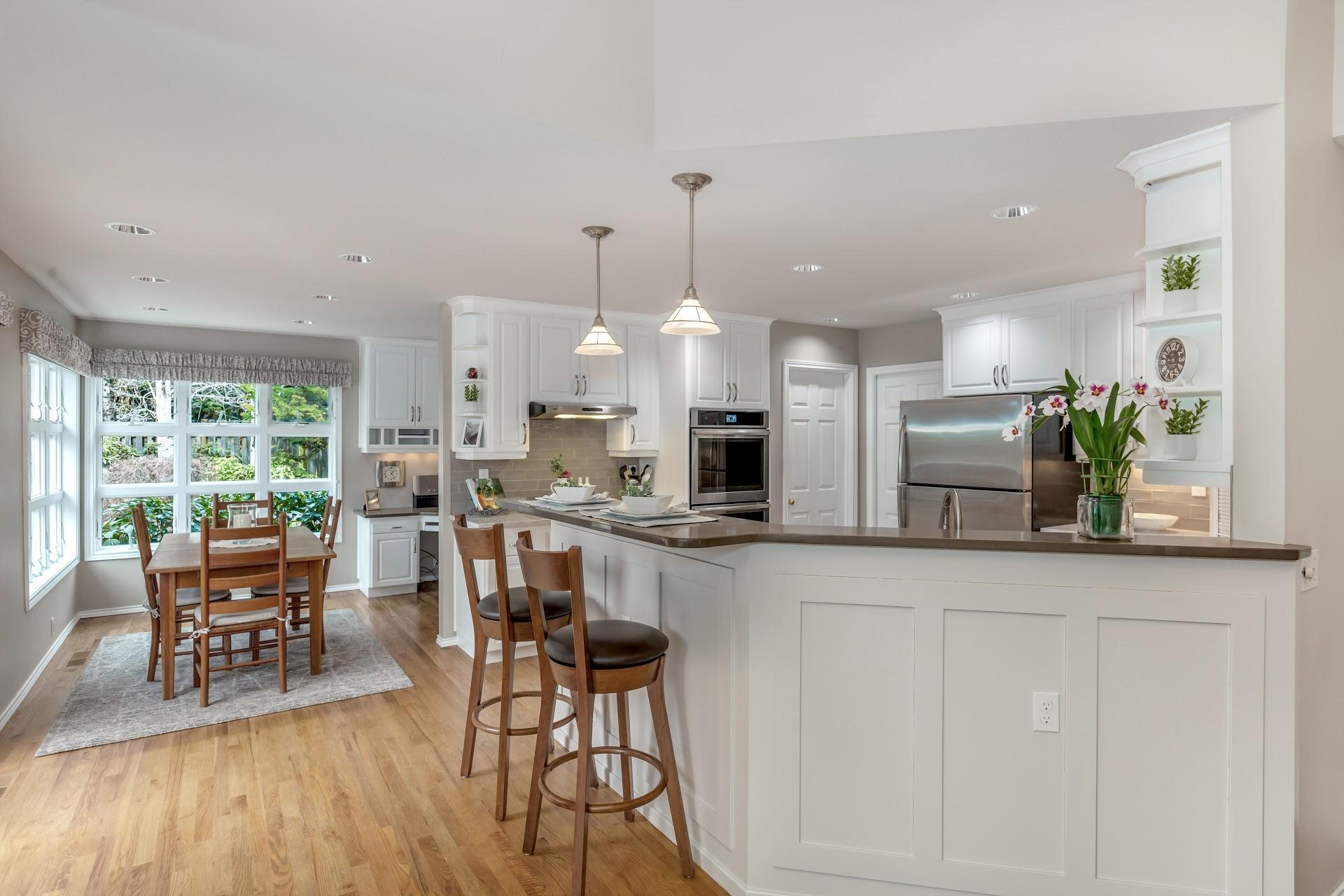 Lake Oswego Kitchen Office And Fireplace Remodel The