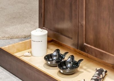 Floor Drawer in Kitchen with Tea Kit
