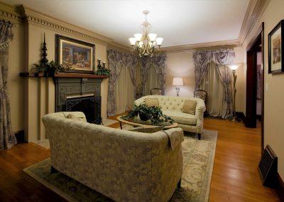 Portland Historical Living Room Restoration with Antique Design
