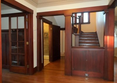 NW Portland Foyer Restoration in Historical Home