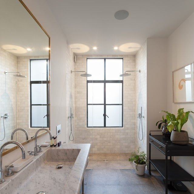 Master Bathroom with open Walk-in Shower