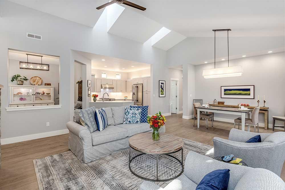 Finished Living Room after Home Remodel