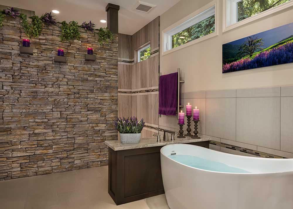 Finished Master Bathroom after Remodel Project