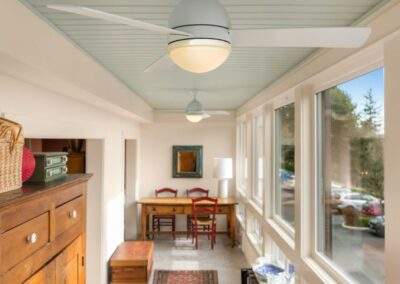 Lake Oswego Sunroom Beadboard Ceiling 01